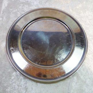 Dækketallerken sølv
